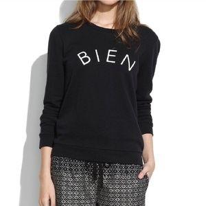 Madewell   Bien Fait Black Crewneck Sweatshirt